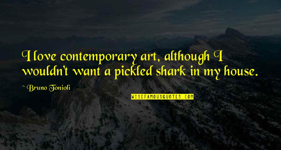Bruno's Quotes By Bruno Tonioli: I love contemporary art, although I wouldn't want