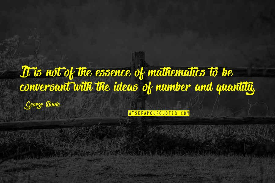Brutal Honesty Quotes By George Boole: It is not of the essence of mathematics