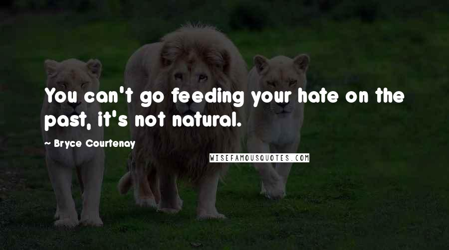 Bryce Courtenay quotes: You can't go feeding your hate on the past, it's not natural.