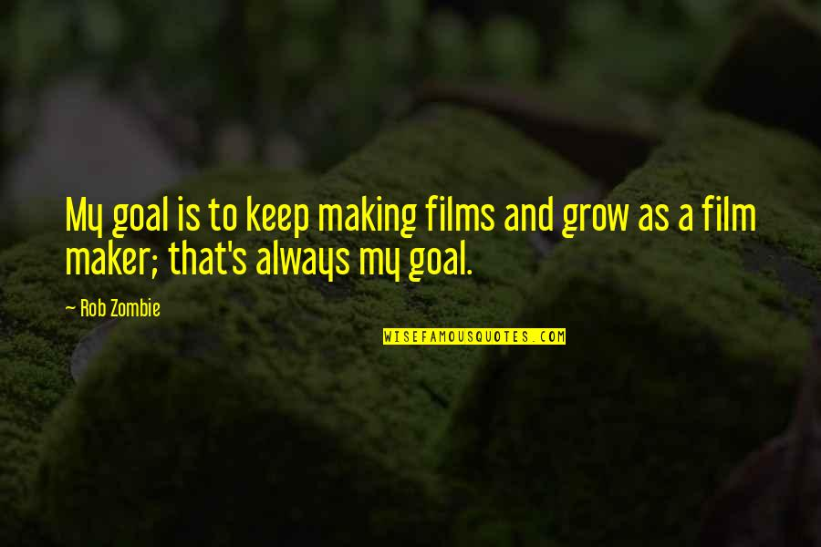 Bsn Motivational Quotes By Rob Zombie: My goal is to keep making films and