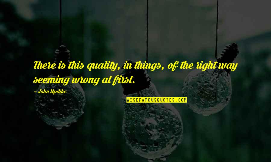 Bubba Blue Quotes By John Updike: There is this quality, in things, of the