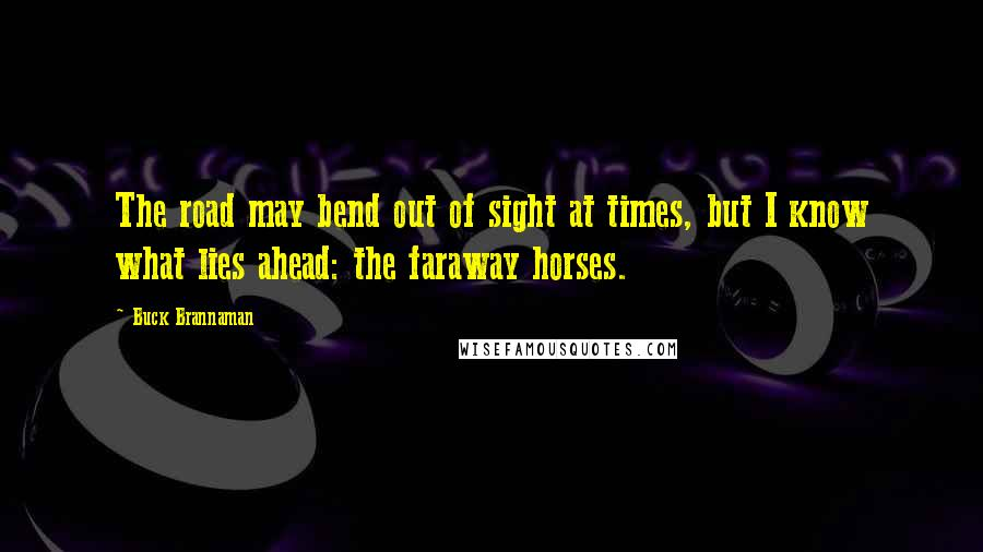 Buck Brannaman quotes: The road may bend out of sight at times, but I know what lies ahead: the faraway horses.