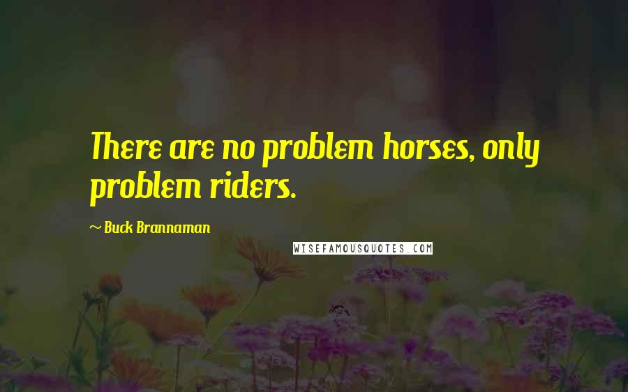 Buck Brannaman quotes: There are no problem horses, only problem riders.