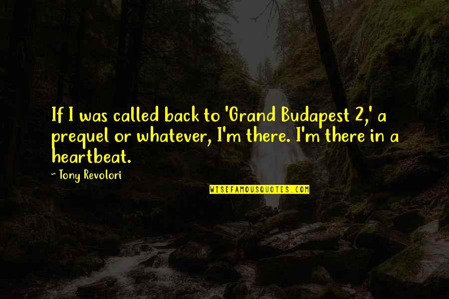 Budapest's Quotes By Tony Revolori: If I was called back to 'Grand Budapest
