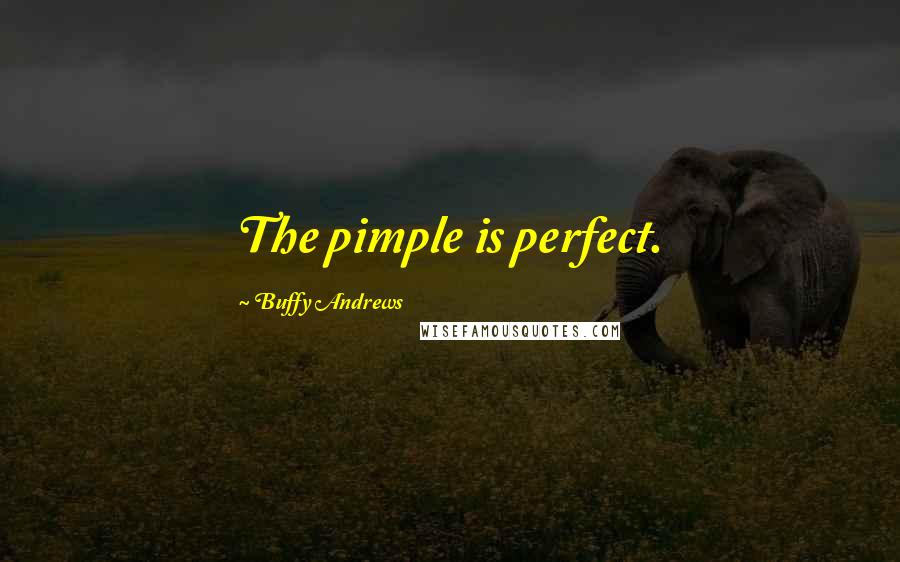 Buffy Andrews quotes: The pimple is perfect.
