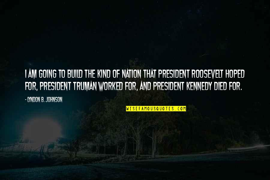 Build Nation Quotes By Lyndon B. Johnson: I am going to build the kind of
