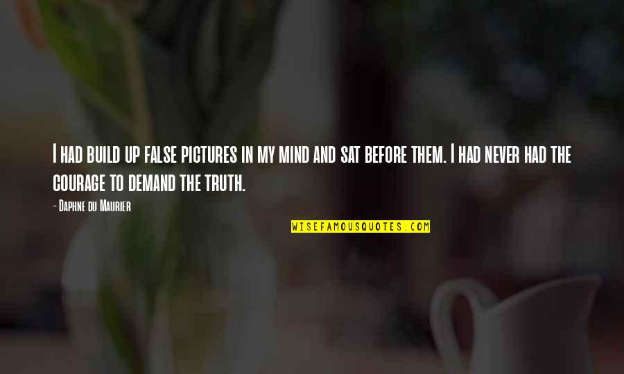 Build Them Up Quotes By Daphne Du Maurier: I had build up false pictures in my