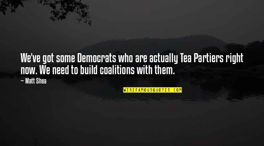 Build Them Up Quotes By Matt Shea: We've got some Democrats who are actually Tea