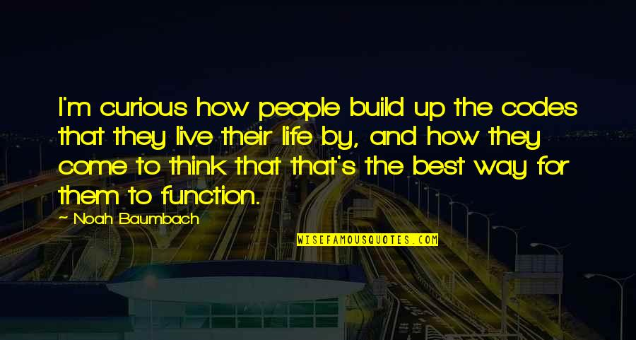Build Them Up Quotes By Noah Baumbach: I'm curious how people build up the codes
