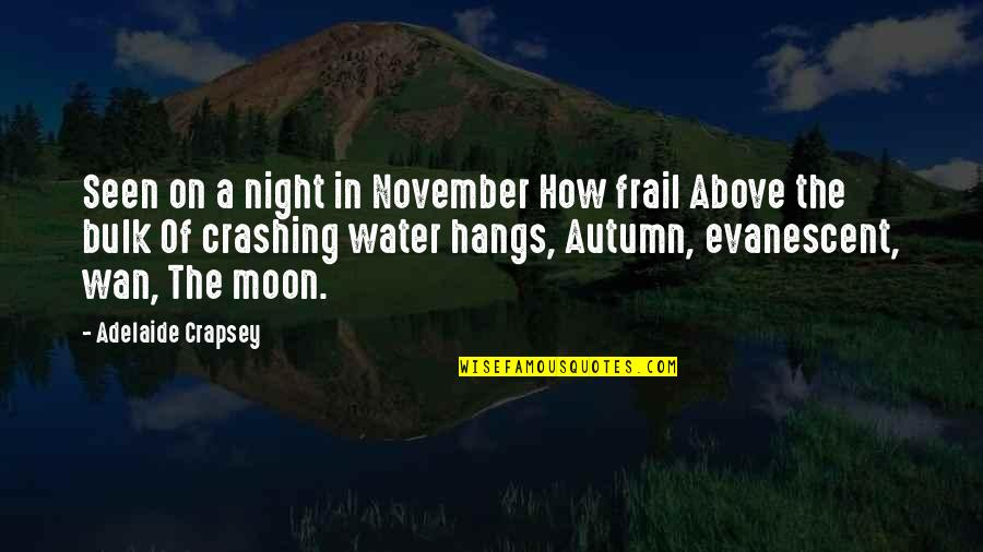 Bulk Quotes By Adelaide Crapsey: Seen on a night in November How frail