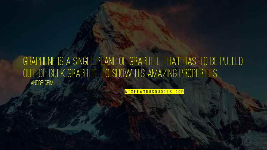 Bulk Quotes By Andre Geim: Graphene is a single plane of graphite that