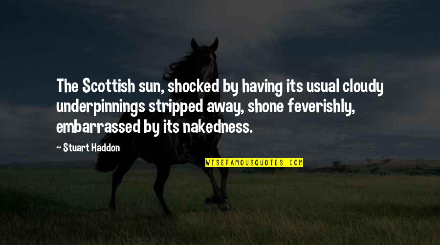 Bullet Quotes By Stuart Haddon: The Scottish sun, shocked by having its usual
