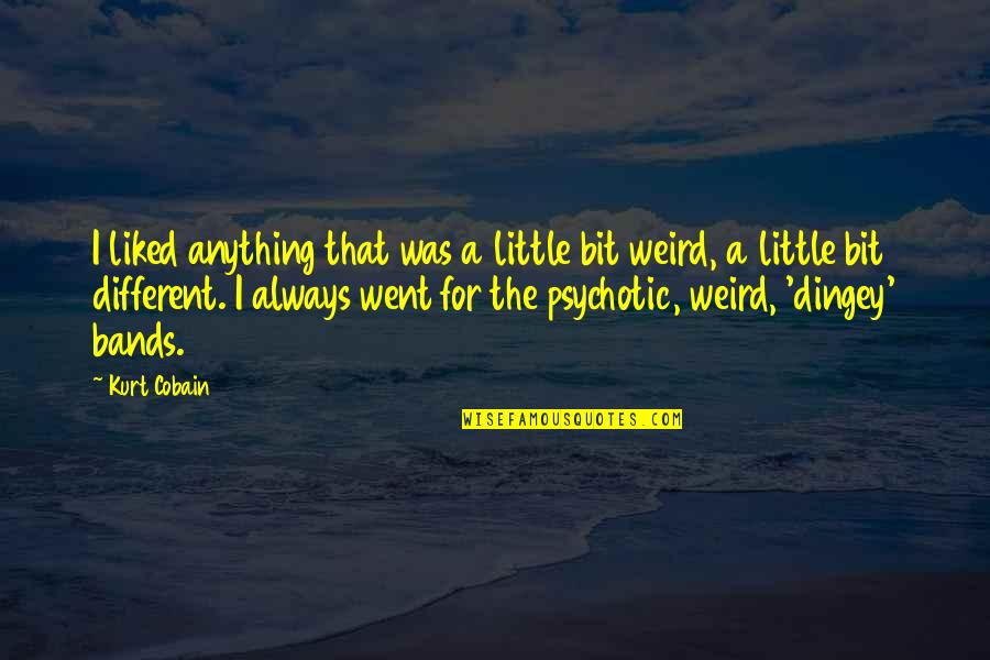 Bullhead Quotes By Kurt Cobain: I liked anything that was a little bit