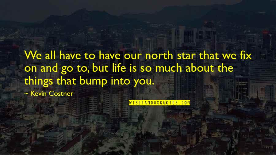 Bumps In Life Quotes By Kevin Costner: We all have to have our north star