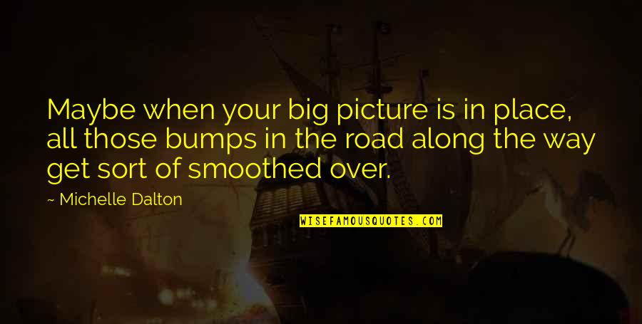 Bumps In Life Quotes By Michelle Dalton: Maybe when your big picture is in place,