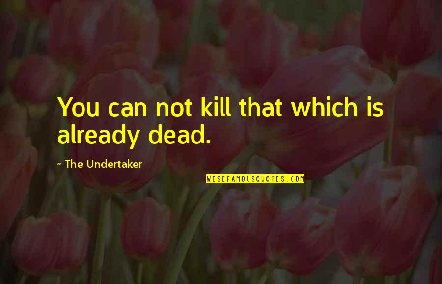 Burkha Quotes By The Undertaker: You can not kill that which is already