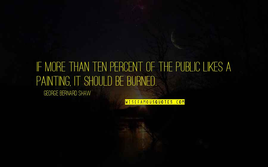 Burned Out At Work Quotes By George Bernard Shaw: If more than ten percent of the public