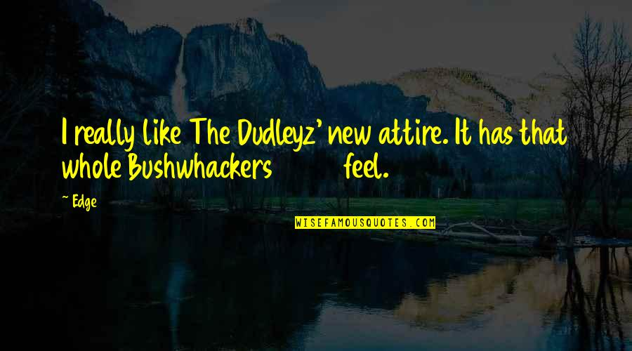 Bushwhackers Quotes By Edge: I really like The Dudleyz' new attire. It