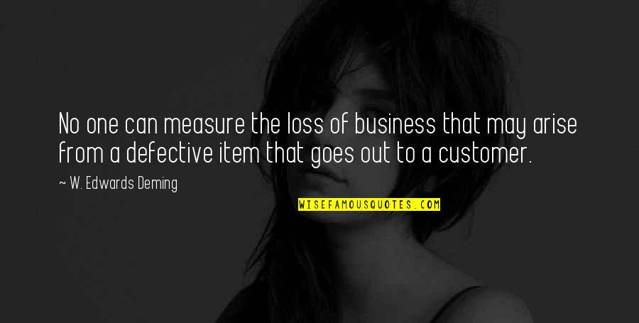 Business And Risk Quotes By W. Edwards Deming: No one can measure the loss of business