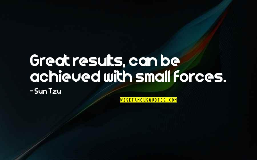 Business Results Quotes By Sun Tzu: Great results, can be achieved with small forces.