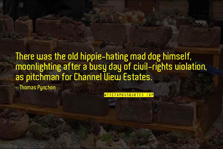 Busy As A Quotes By Thomas Pynchon: There was the old hippie-hating mad dog himself,