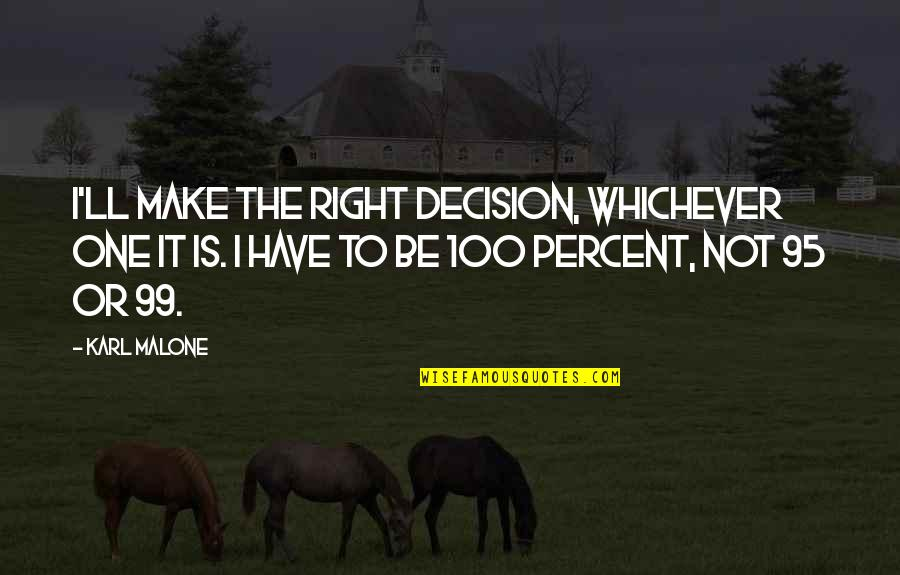 Buttoned Quotes By Karl Malone: I'll make the right decision, whichever one it