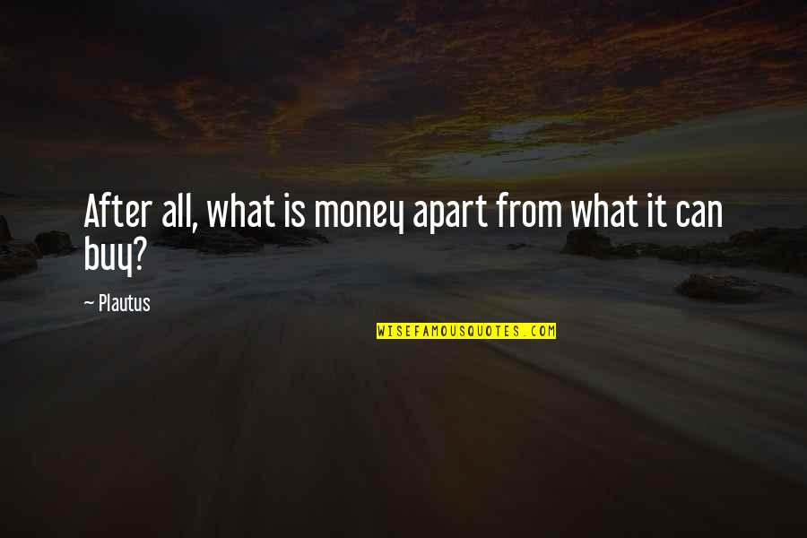 Buy Happiness Quotes By Plautus: After all, what is money apart from what
