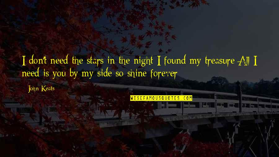 By My Side Love Quotes By John Keats: I don't need the stars in the night