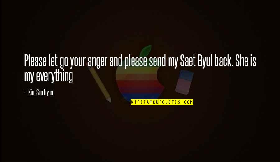 Byul Quotes By Kim Soo-hyun: Please let go your anger and please send