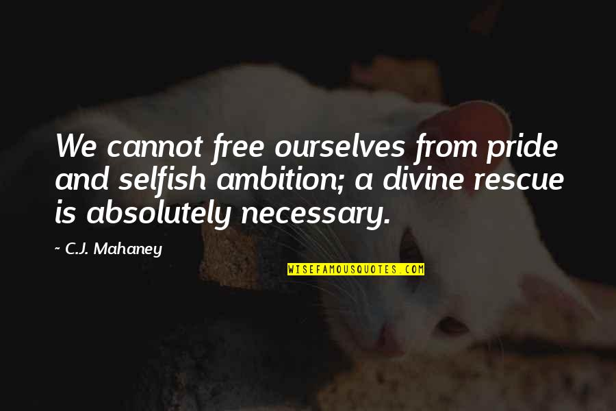 C.j. Mahaney Quotes By C.J. Mahaney: We cannot free ourselves from pride and selfish