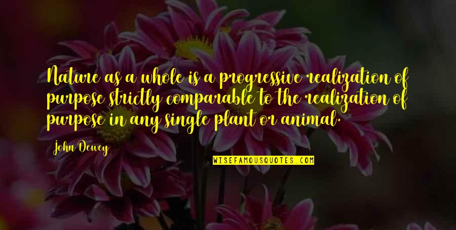 C Single Quotes By John Dewey: Nature as a whole is a progressive realization