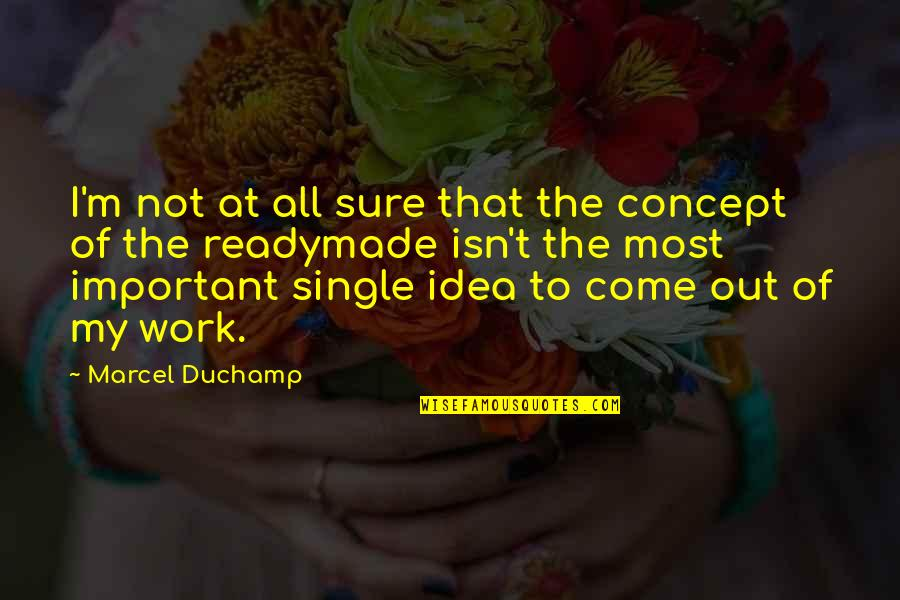C Single Quotes By Marcel Duchamp: I'm not at all sure that the concept