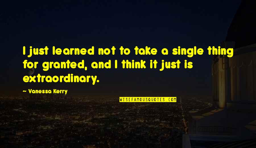 C Single Quotes By Vanessa Kerry: I just learned not to take a single