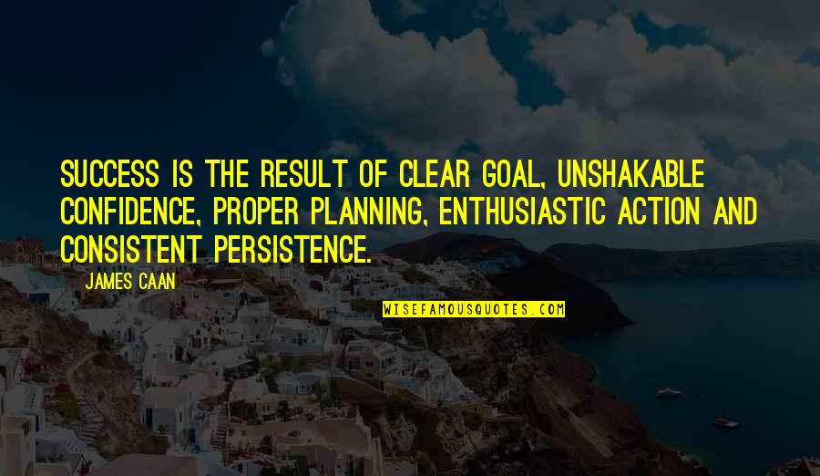 Caan Quotes By James Caan: Success is the result of clear goal, unshakable