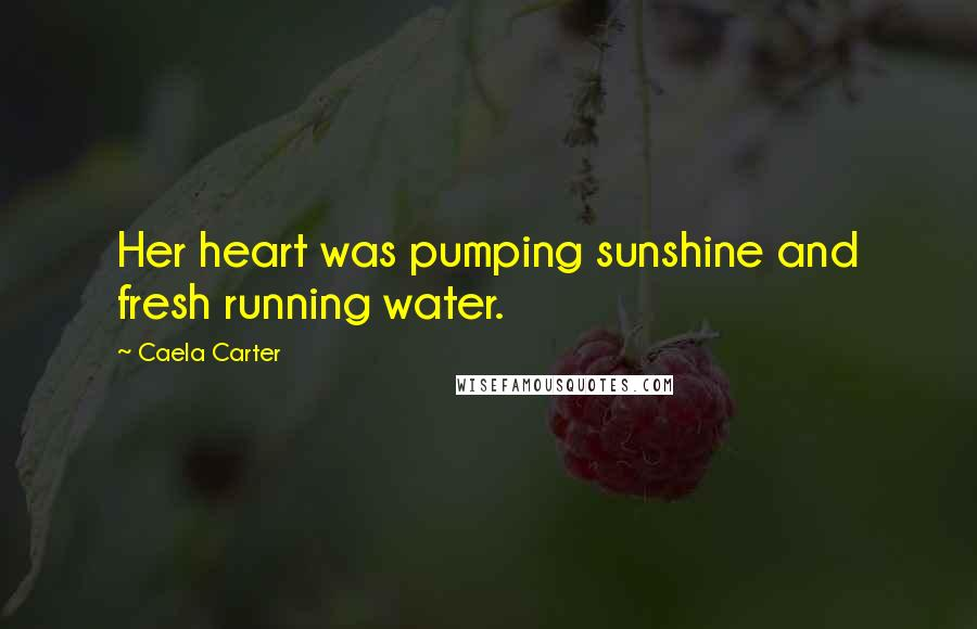 Caela Carter quotes: Her heart was pumping sunshine and fresh running water.