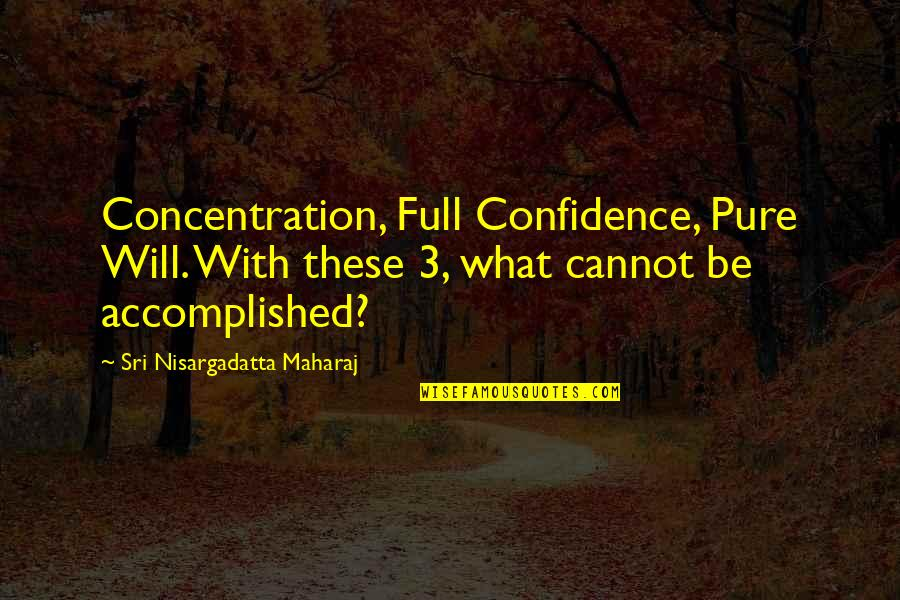 Caesar From Brutus In Julius Caesar Quotes By Sri Nisargadatta Maharaj: Concentration, Full Confidence, Pure Will. With these 3,