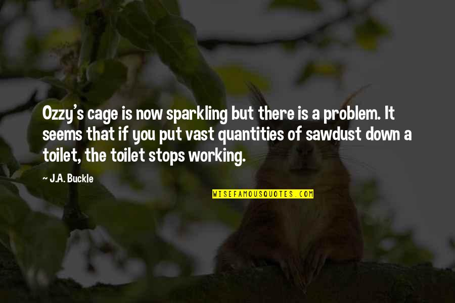 Cage Quotes By J.A. Buckle: Ozzy's cage is now sparkling but there is