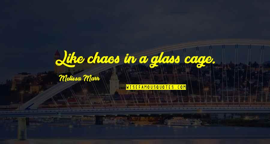 Cage Quotes By Melissa Marr: Like chaos in a glass cage.