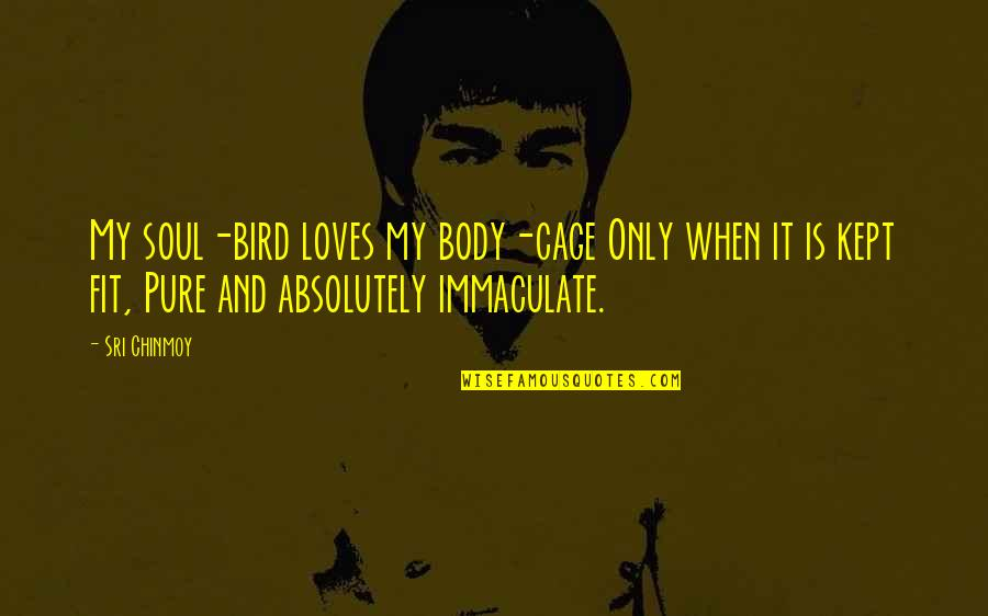 Cage Quotes By Sri Chinmoy: My soul-bird loves my body-cage Only when it