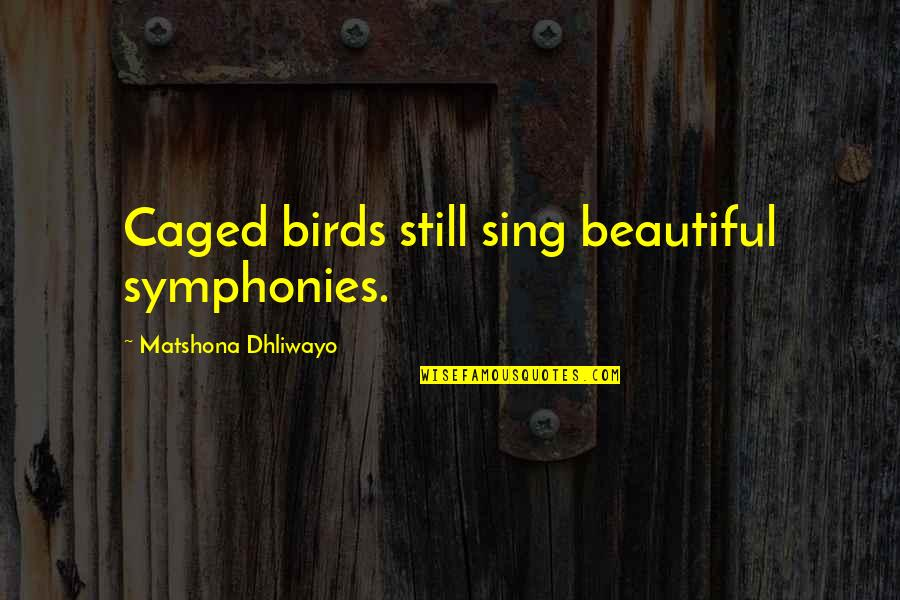Caged Birds Quotes By Matshona Dhliwayo: Caged birds still sing beautiful symphonies.