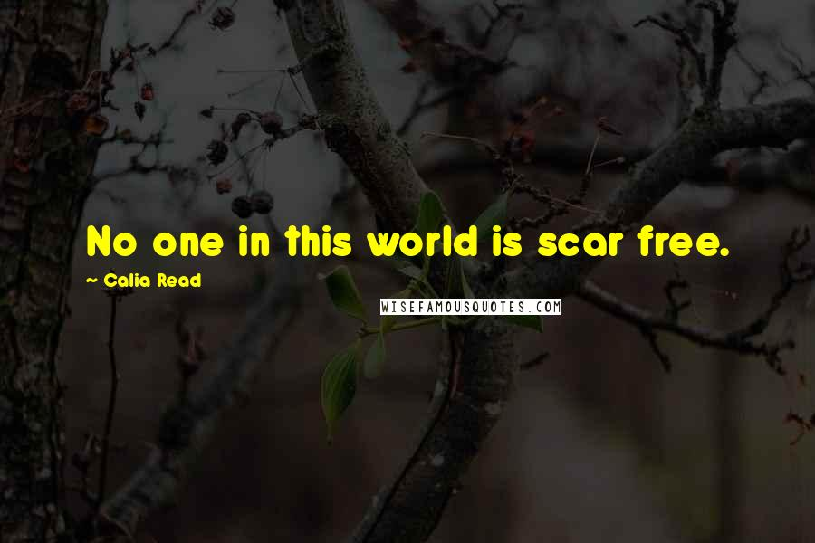 Calia Read quotes: No one in this world is scar free.