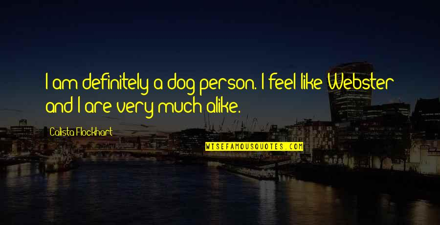 Calista Quotes By Calista Flockhart: I am definitely a dog person. I feel