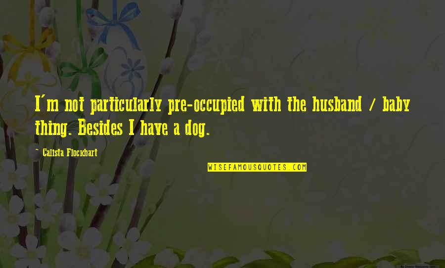 Calista Quotes By Calista Flockhart: I'm not particularly pre-occupied with the husband /