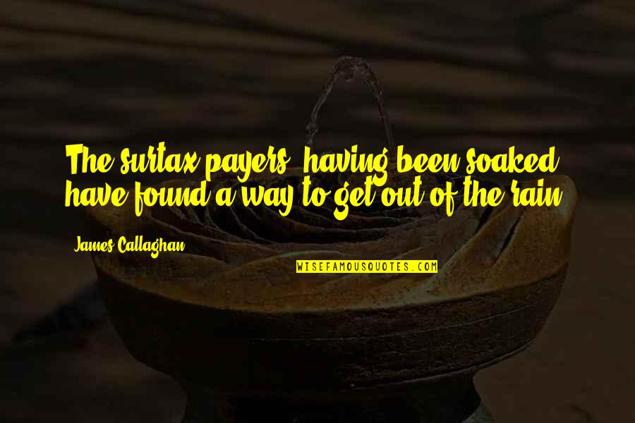 Callaghan Quotes By James Callaghan: The surtax payers, having been soaked, have found