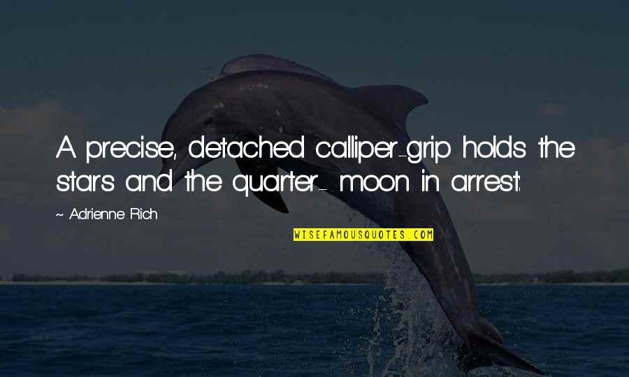 Calliper Quotes By Adrienne Rich: A precise, detached calliper-grip holds the stars and