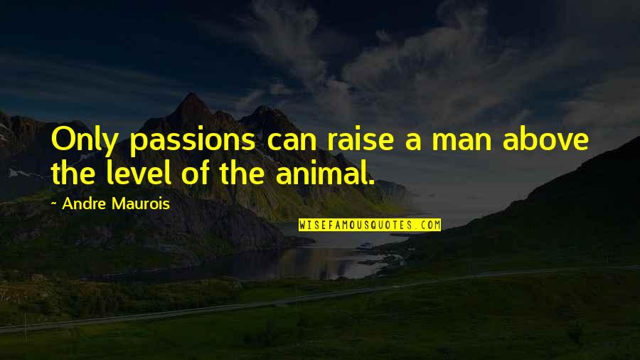 Callum Innes Quotes By Andre Maurois: Only passions can raise a man above the