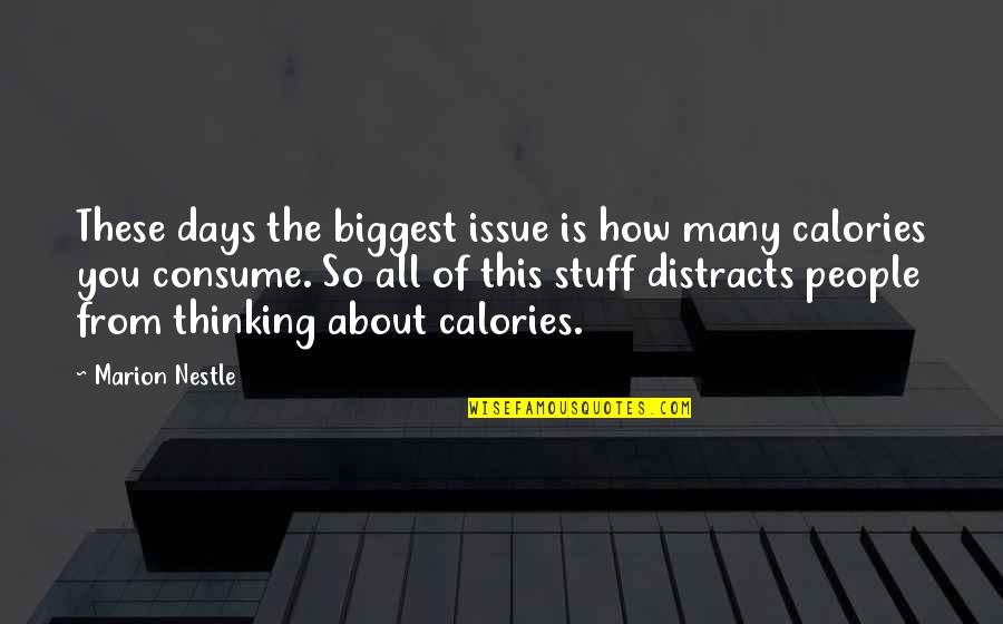Calories Quotes By Marion Nestle: These days the biggest issue is how many