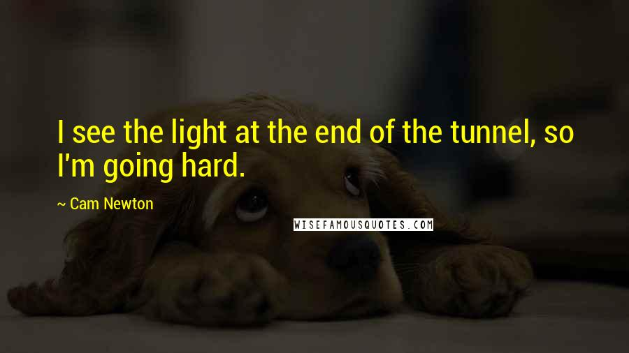 Cam Newton quotes: I see the light at the end of the tunnel, so I'm going hard.