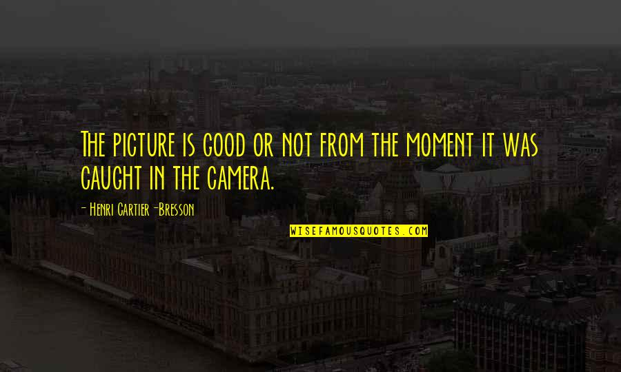 Camera Picture Quotes By Henri Cartier-Bresson: The picture is good or not from the
