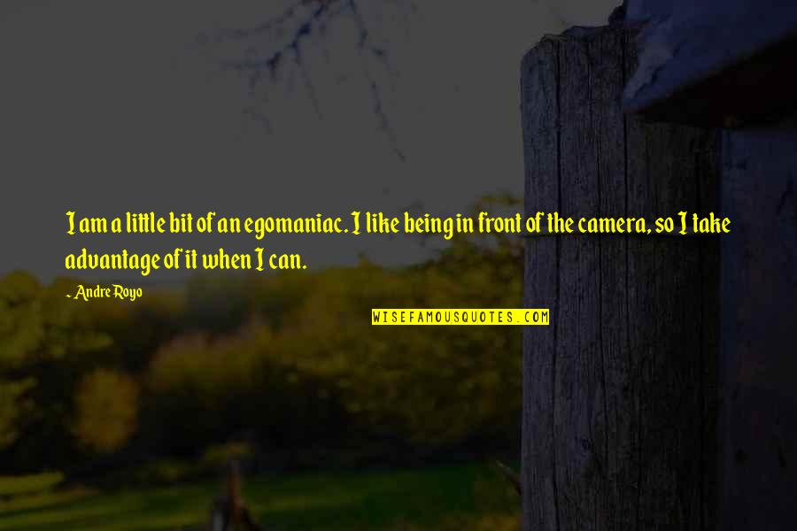 Camera Quotes By Andre Royo: I am a little bit of an egomaniac.